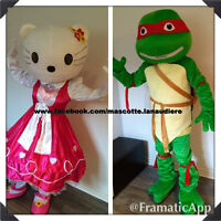 Fetes enfants Location Mascotte 40$ Minion Olaf Elsa Ninja Kitty