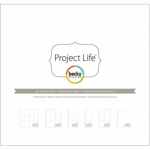 Project Life Big Variety Pack 3 Photo Pocket Pages 96985 7188139699857