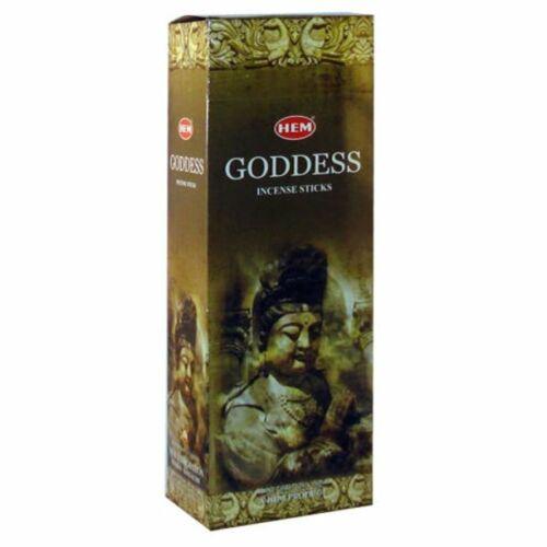 Hem Goddess Incense Sticks (Hex Tubes, Retail Box, 6 Tubes, 120 Sticks)