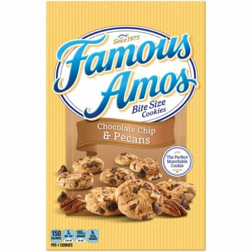 Famous Amos Chocolate Chip & Pe cans Cookies Bite Size 12.4 oz
