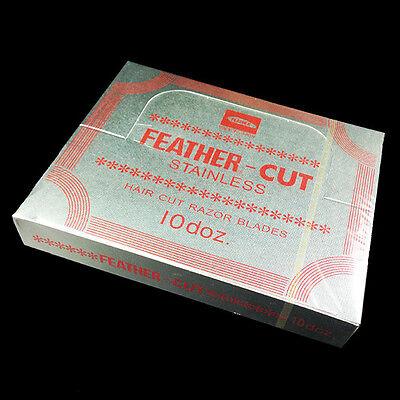 Feather CUT stainless x 120 Hair Cut Razor Blade Hairstylish Trim Shear Shave