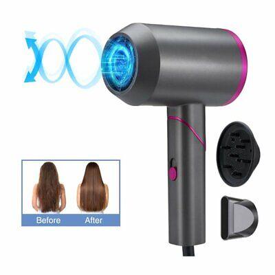 Secador de cabelo 2000 W Secadores de cabelo 3 configurações de calor 2Secagem de velocidade para salão de viagens em casa