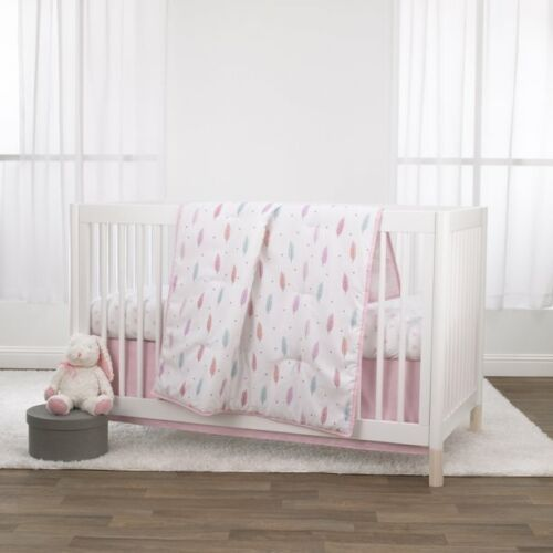 Little Love: Feathers Girl 3 Piece Crib Bedding Set by NoJo