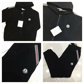 Brand New With Tags Men's Moncler Hooded Black/Grey Tracksuits £35 Each