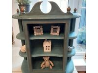 Shabby Chic wall cabinet / Curio -Bespoke -Painted in with Belgrade Ch