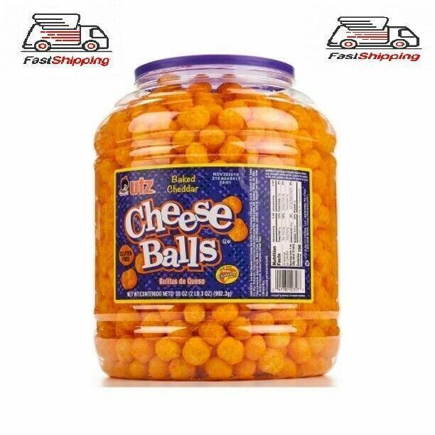 Utz Cheddar Cheese Balls 35 oz Barrel