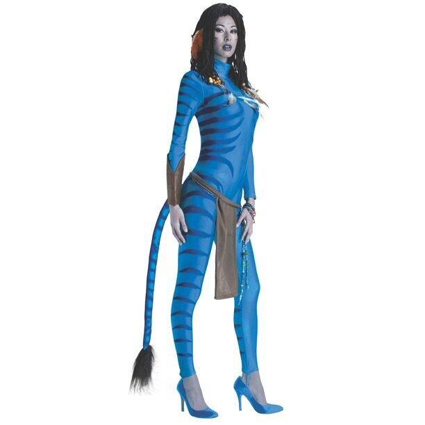 Secret Wishes Avatar Neytiri Womens Halloween Costume Jumpsuit Size S New