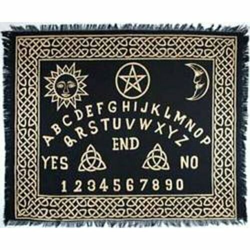 """Ouija-Board Altar Cloth 24"""" x 30"""" Wiccan Witchcraft Supply Store"""