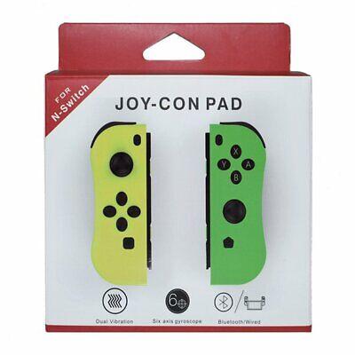 Genuine Nintendo Switch - Joy-Con (R) (L) Wireless Controller -Yellow+Green NEW