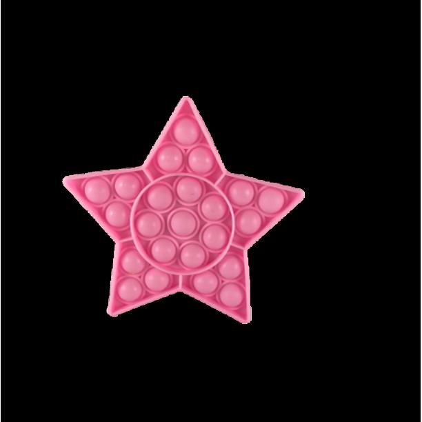 Popit Fidget Toy Push Bubble Sensory Stress Relief Kids Family Games Star Pink Games