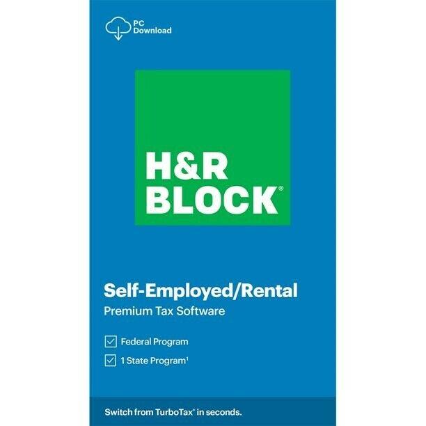 H&R BLOCK 2020 SELF-EMPLOYED RENTAL PREMIUM TAX SOFTWARE FEDERAL STATE CODE