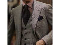 ROBERT OLD & CO (TAILORED BY KONEN) PRINCE OF WALES CHECK