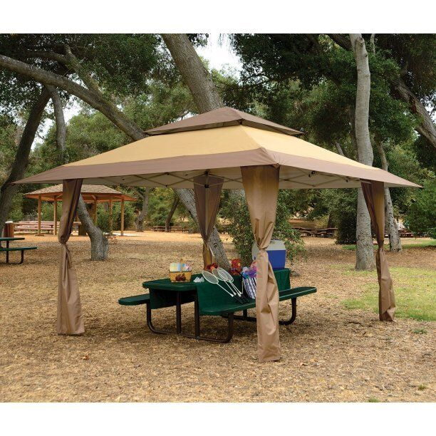 Patio Gazebo Canopy 13 x 13 Outdoor Pop Up Sun Tan Shelter BBQ Picnic Tent Event  sc 1 st  eBay & Gazebo Pop up Instant Shade Sun Shelter Patio Canopy Tent Outdoor ...