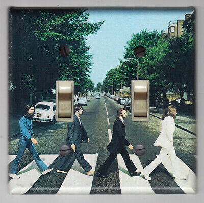 Decor Double Switchplate Cover (Beatles Abby Road Double Light Switch Cover Plate - Home)