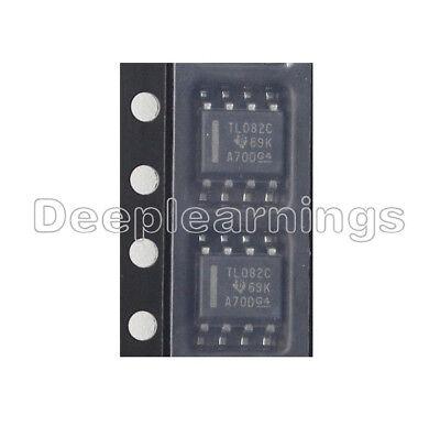 10pcs Tl082 Ic Ti Sop 8 Jfet-input Operational Amplifiers
