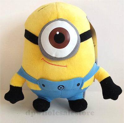 New 7  Despicable Me 2 Minion Stewart Plush Stuffed Animal Doll Toy Movie Stuart