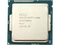 Intel core i7 4790K 4.0ghz CPU
