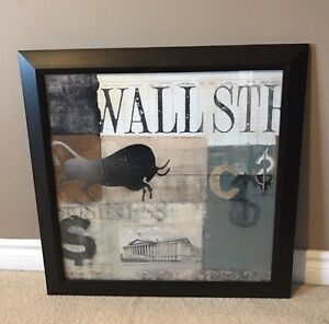 Wall Street Picture in Frame. - Perfect Gift!