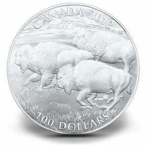super low price sale_2013 Silver $100 BISON Coin