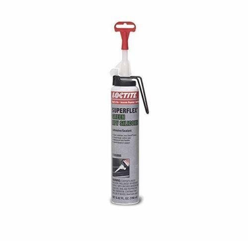 Loctite Superflex 1165866 Equipment Silicone Adhesive Sealant, 190 mL, Green