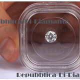 Certified 7 mm 1.5 ct Enhanced Cultured Diamond Solitaire HPHT Treated F/VVS1