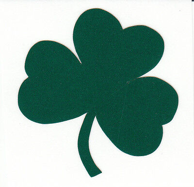 Reflective green Notre Dame Fighting Irish shamrock 3 inch decal RTIC sticker Notre Dame Shamrock Green