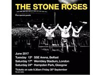 The Stone Roses tickets - 17 th June 2017 - 2 tickets - Standing/unreserved seating