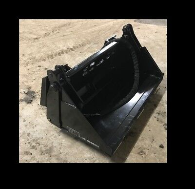 Mtl Attachments 48 Toro Dingo-vermeer 4 In 1 Hydraulic Bucket Mini Skid Steer