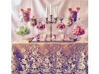 Wedding/Birthday Candy Buffet Table. Sweets Table for all occasions. Birthday Party Candy Table