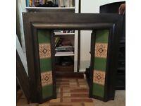 Cast Iron Victorian Tile Fire Insert
