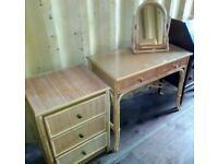 Bedroom set, drawers , dressing table and mirror