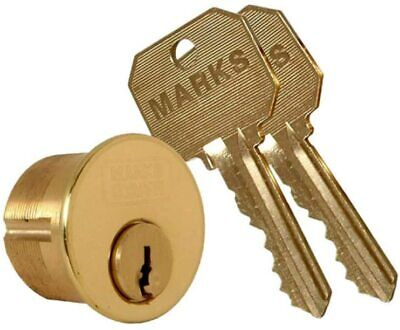 Marks Metro 21613 Solid 1-18 Mortise Cylinder Lock And Two Keys