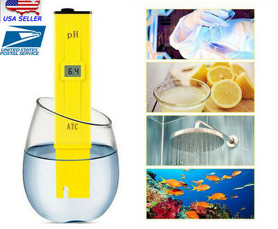 Usa Digital Ph Meter Tester Hydroponic Pool Water Aquarium Pocket Portable Wine