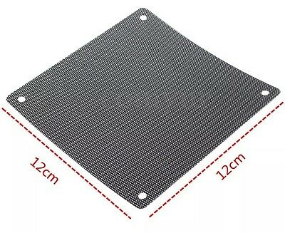 2x 120mm Dust proof Case Fan Dust Filter Guard Protector Cover Mesh PC UK