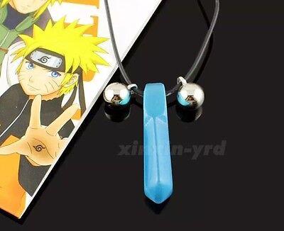 Naruto Blue Crystal Anime Tsunade Necklace Pendant Cosplay US Seller