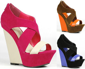 Two-Tone-Criss-Cross-Open-Toe-Platform-Wedge-Sandal-Liliana-Peace-1