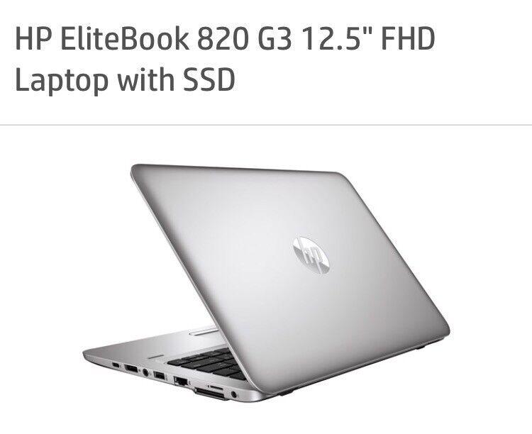 New HP EliteBook 820 G3 i5-6200, 256GB SSD, 8GB RAM,WINDOWS 10 PRO