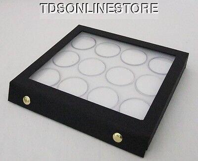 Gem Storage Attached Top Case 12 Jars White Foam
