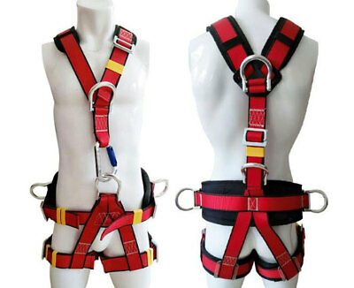 Fall Protection 5 Points Adjustable Full Body Safety Harness With Waist Support