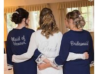 Bridesmaid and maid of honour dressing gowns
