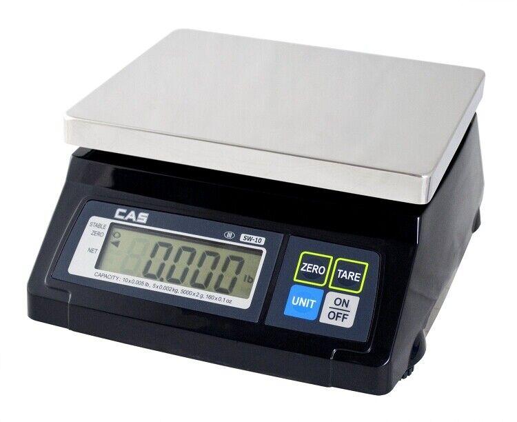 CAS SW-RS Point Of Sale Scales SW-20RS, 20 lb x 0.01 lb
