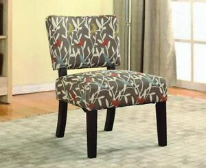 Accent Chair with Wooden Legs - Grey Grey