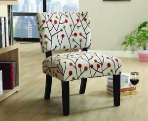 Accent Chair with Wooden Legs - Beige Beige