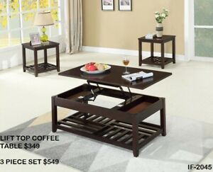 MULTI-FUNCTIONAL COFFEE TABLES - LOTS OF STYLES AT MIKE'S