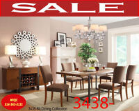 modern style of new dining sets, 3438-84 8pc