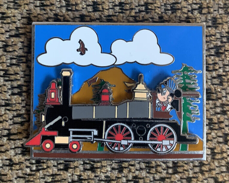 DCA Disney California History Series CHS Railroads Train Mickey Slider Pin LE