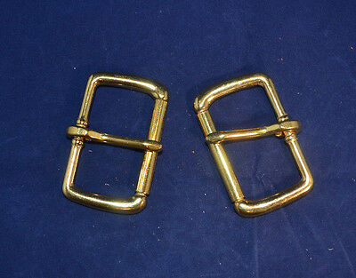 "Roller Buckle - 2"" Solid Brass - Set of 2 (B85)"