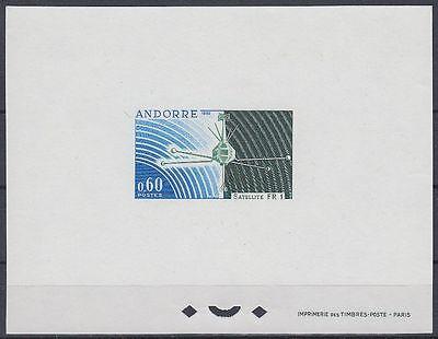 Andorra Andorre 1966 ** Mi.197 Proof Essay Epreuve de luxe Weltraum Space Espace