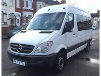 LHD LEFT HAND DRIVE MERCEDES SPRINTER 311 CDI 2007 9 SEATER WHITE CLEAN MINIBUS
