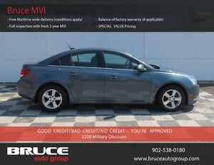 2012 Chevrolet Cruze LT 1.4L 4 CYL TURBOCHARGED AUTOMATIC FWD 4D
